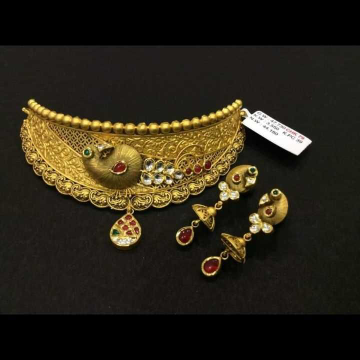 22 K Gold Fancy Necklace Set. NJ-N01139