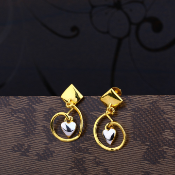 Ladies 22K Gold Traditional Plain Earring -LPE48