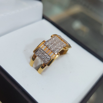 Gents CZ Casting ring by Parshwa Jewellers