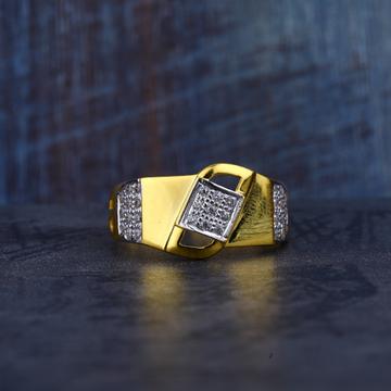 Mens Cz Gold 22K Ring-MR132