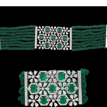 Diamonds and Emeralds BraceletJSJ0138