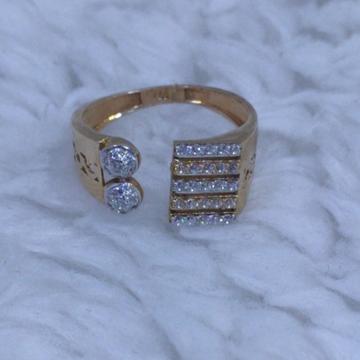 18KT/750 Rose Gold Timeless open Ring For Women