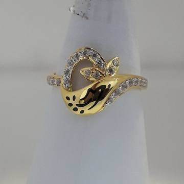 916 Gold unique carving ladies ring MJ-MB2607