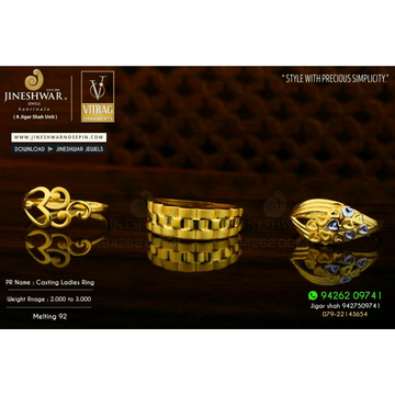 916 Beautiful Designer Plain Casting Ladies Ring LRG -0584