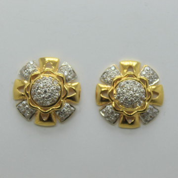 22k/916 fancy round earrings