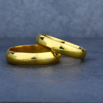 Exclusive 916 Plain Gold Band Ring-CR05