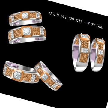 20KT Rose Gold Diamond Couple Ring