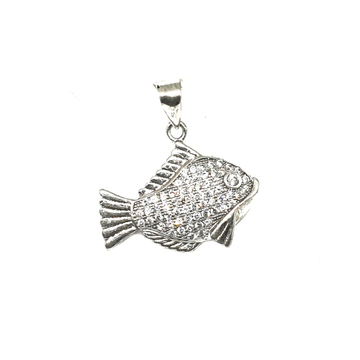 925 Sterling Silver Fish Pendant MGA - PDS0052