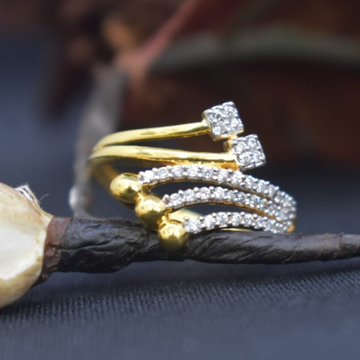 916 Gold CZ Rings For Wedding MK-R11 by