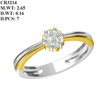 916 Gold Designer Double Tone Ring MK-R07 by