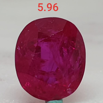 5.96ct Round Shape Pink Manek VG-R37