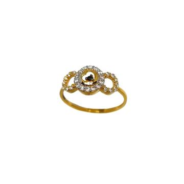 22K Gold Round Shaped Fancy Ring MGA - LRG1176