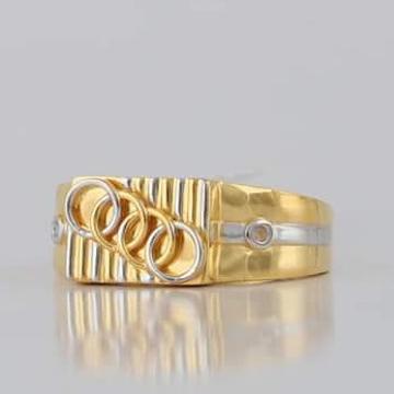 22 Carat gold gents fency ring RH_vt109
