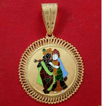 22kt Gold Radhe Krishna Religious Pendant