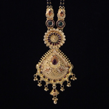 22 k Gold Fancy Mangalsutra. NJ-M01112