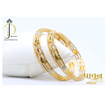 22KT / 916 Gold Twisted fancy Bangles For Ladies K... by