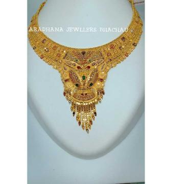 916 Gold Indian Meenakari Necklace