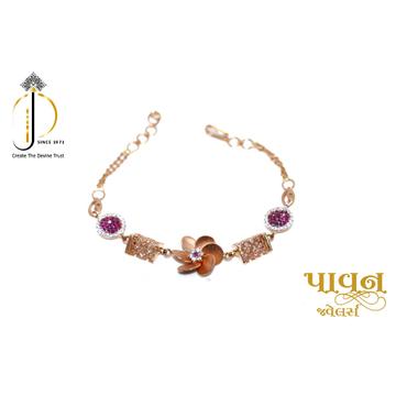 18KT Rose Gold Flower Design Festival Bracelet For... by