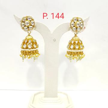 Gold plated kundan with hanging Moti Jhumki earring  1502