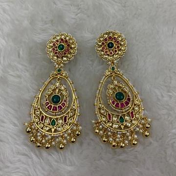 Artificial Green Stone Earrings by