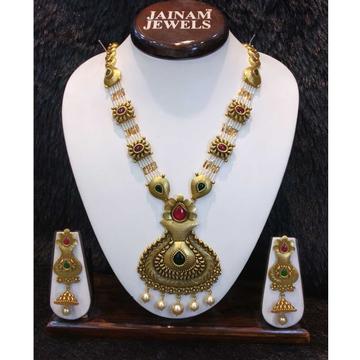 22kt gold rajwadi bridal antique set by