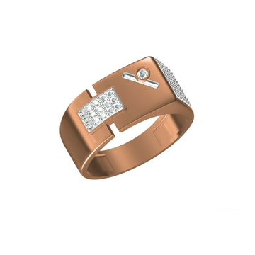 Rose Gold Fashionable Outwear Men's Ring-31308