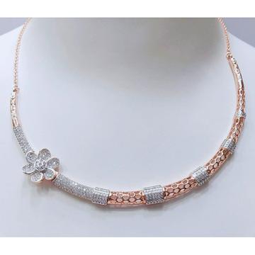 18Kt Rose Gold Plated Flower Design Necklace VJ-N0... by