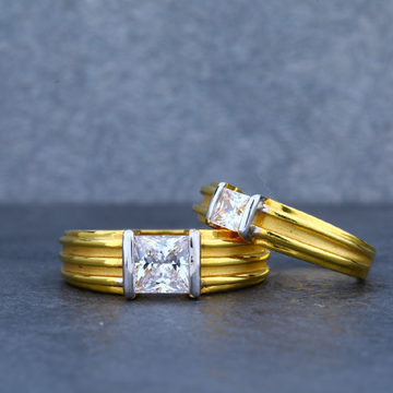 22ct Gold Solitaire Couple Ring-CR26