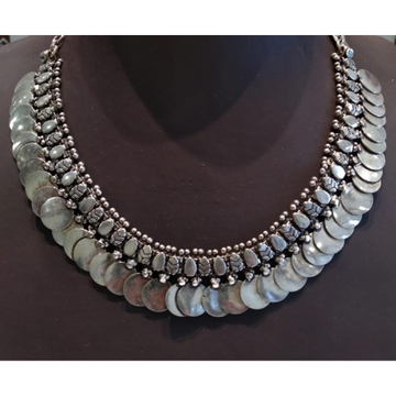 Silver Necklace Traditional Wear by