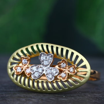 916 Gold Hallmark Flower Design Ring