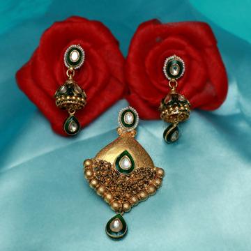 916 Gold Antique Pendant Set PJ-PS008
