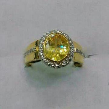 22K/916 Gold Single Stone Ring