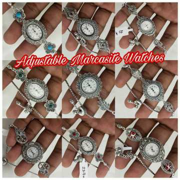 92.5 Sterling Silver Adjustable Marcasite Watches... by