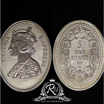 silver 999 raja rani coin RH-BR982