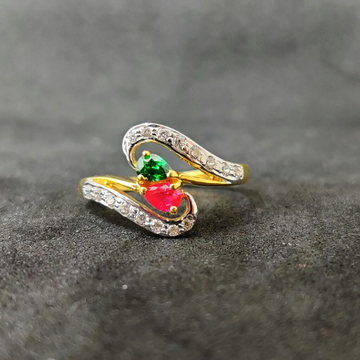 916 Ladies Exclusive Fancy Gold Ring-17027