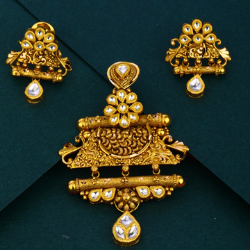 916 gold trendy Antique  design pendant set