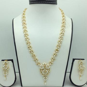 Freshwater White Pearls Long Haar Set JNC0138