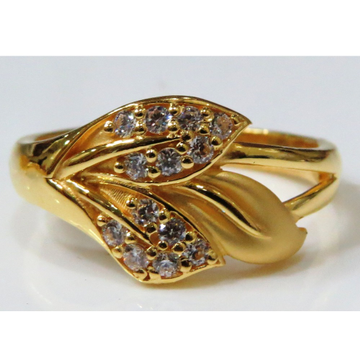22kt gold casting cz classic ring for women lsr-4