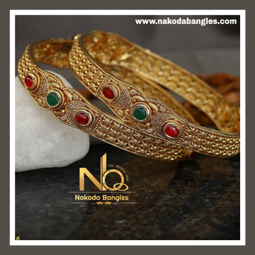 916 Gold Antique Bangles NB - 736