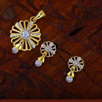 916 gold chain pendantset rh_pset56