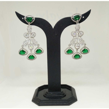 1 gram green fancy stone earring