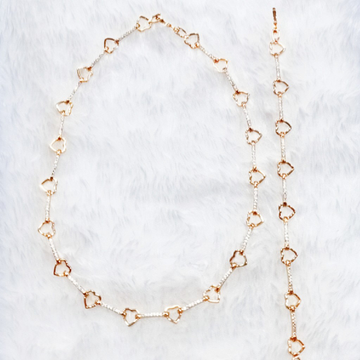 rose gold plating chain bracelet by J.H. Fashion Jewellery