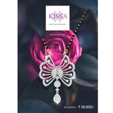 916 Gold Butterfly Design Diamond Mangalsutra