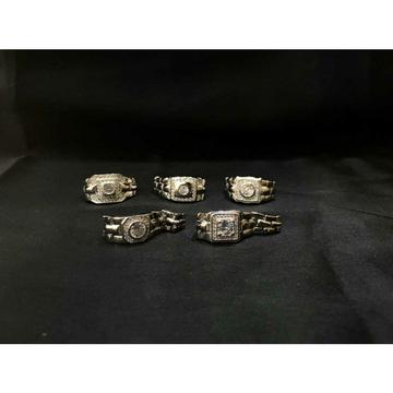 92.5 Sterling Silver Rodyam Rolex Belt Ring Ms-3903