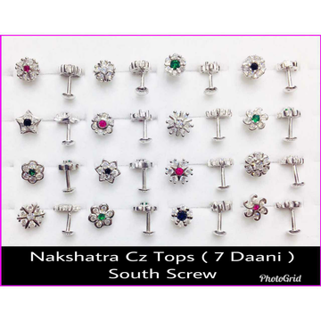 92.5 Sterling Silver Cz Butti Ms-3552