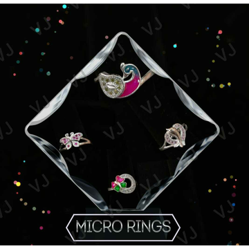 92.5 Sterling Silver Rajkoti Micro Ring Ms-3982
