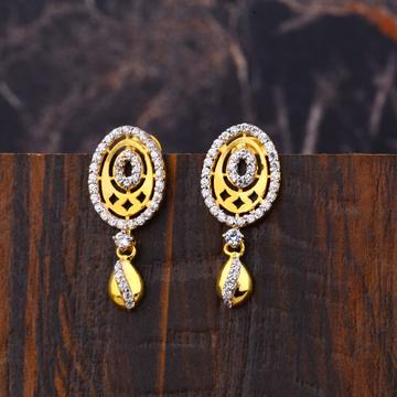 Ladies 22K Gold Fancy Earrings -LFE149
