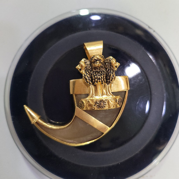 Lion nail pendant by Devika Art Jewellery