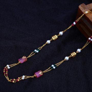 Ladies 916 Gold Delicate Moti Chain-AC79