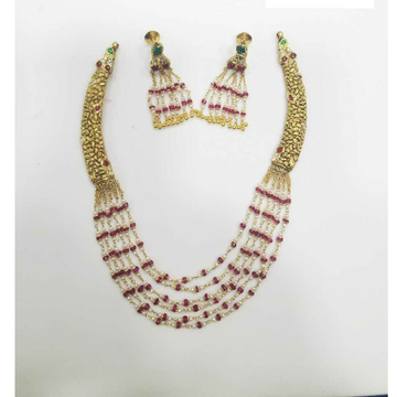 Slider Necklace Set 916 Gold With Beads